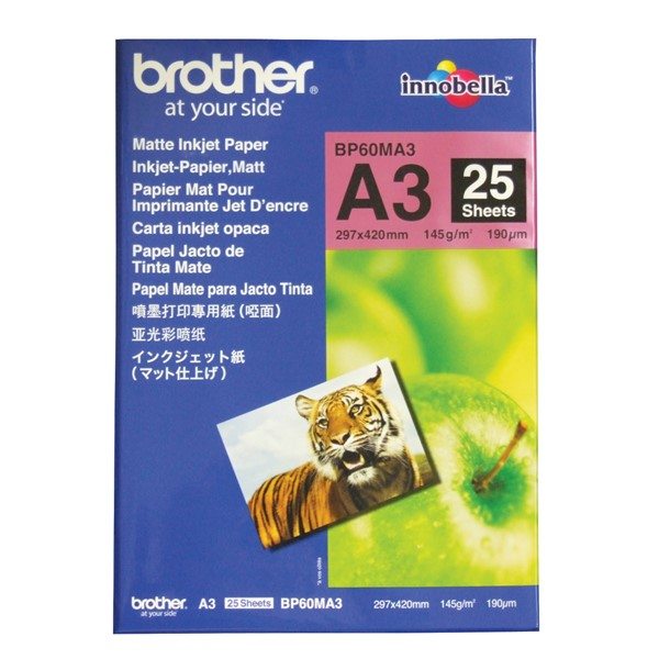 Brother BP60MA3 A3 Matte Inkjet Paper 145GSM 25 Sheets - pr_1776439