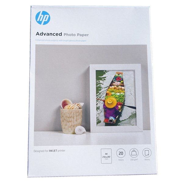 HP Advanced Glossy Photo Paper A4 250gsm -