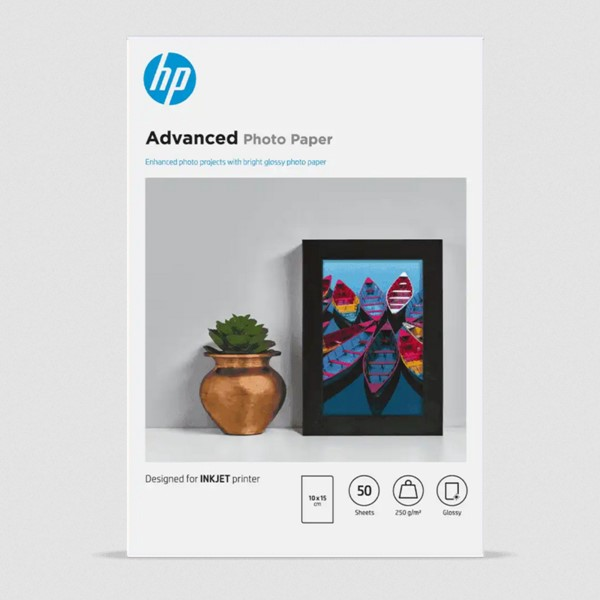 HP Photo Paper Advanced Glossy 6x4 250gsm 50 sheet -
