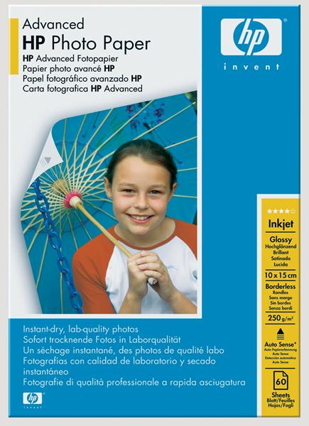 HP Photo Paper Advanced 6X4 250gsm. Pack 100 -
