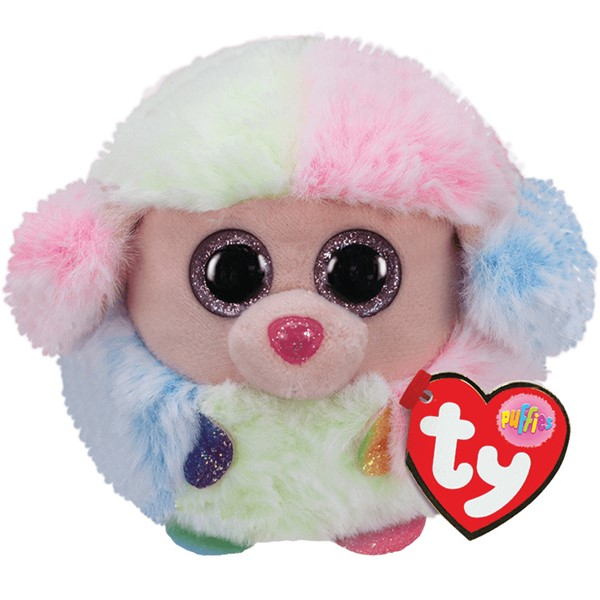 Ty Puffies Rainbow Pastel Poodle -