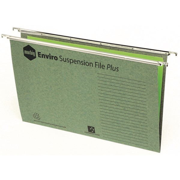 Marbig Enviro Suspension Files Complete Green 10 Pack -