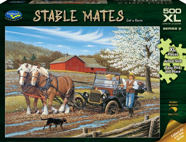 Stable Mates 500 XL Piece Jigsaw Puzzle Get A Horse! -