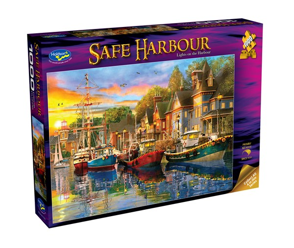 Safe Harbour 1000 Piece Jigsaw Puzzle Lights on the Harbour -