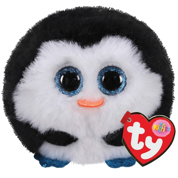 Ty Puffies Waddles Black & White Penguin -