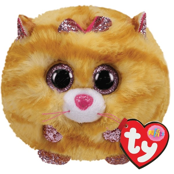 Ty Puffies Tabitha Yellow Cat -