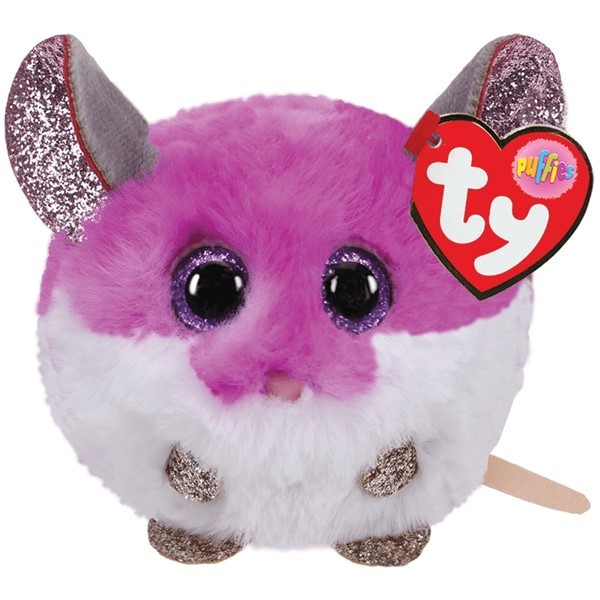 Ty Puffies Colby Purple Mouse -
