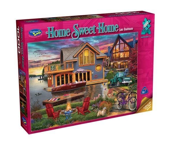 Home Sweet Home 1000 Piece Jigsaw Puzzle Lake Boathouse -