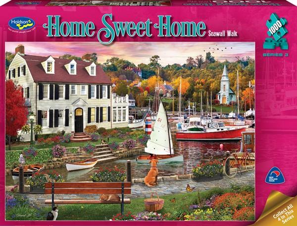 Home Sweet Home 1000 Piece Jigsaw Puzzle Seawall Walk -