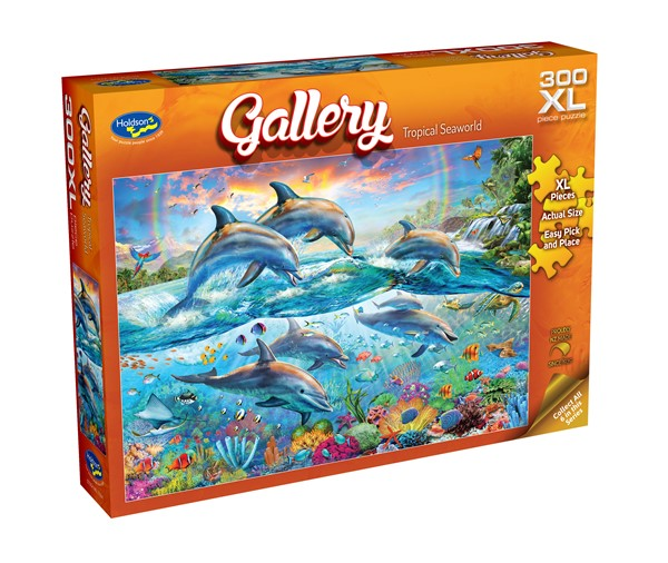 Gallery 300 XL Piece Jigsaw Puzzle Tropical Seaworld -