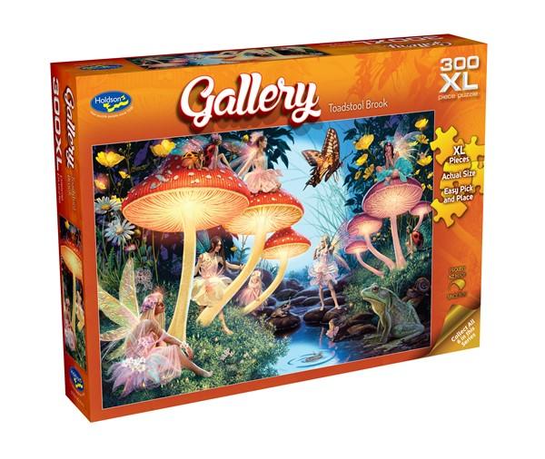 Gallery 300 XL Piece Jigsaw Puzzle Toadstool Brook -