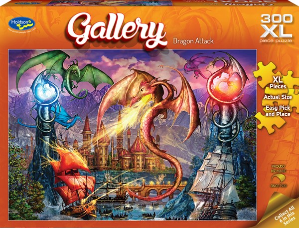 Gallery 300 XL Piece Jigsaw Puzzle Dragon Attack -