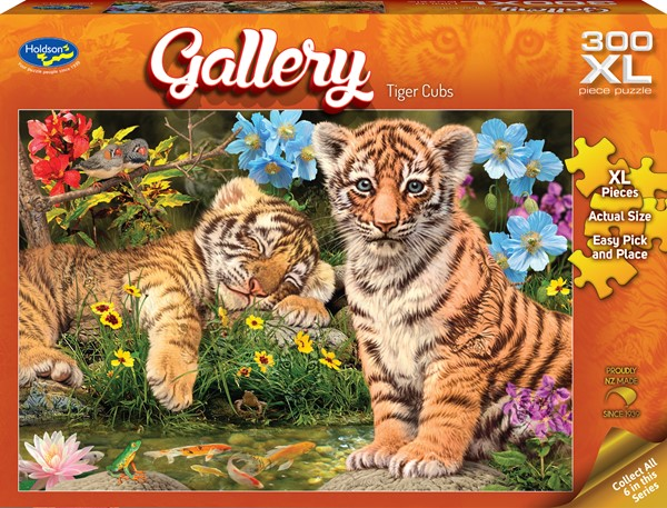 Gallery 300 XL Piece Jigsaw Puzzle Tiger Cubs -