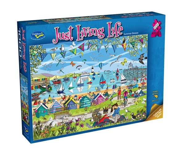 Just Living Life 1000 Piece Jigsaw Puzzle Summer Breeze -