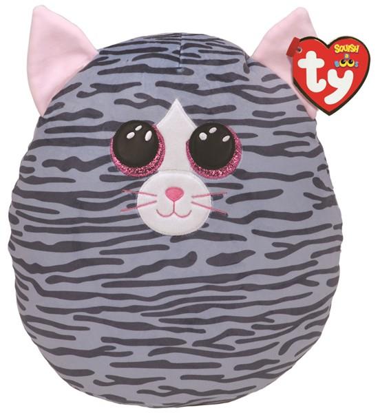Ty Squish-A-Boo Kiki Grey Striped Cat - Large -