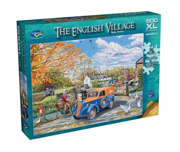 The English Village 500 XL Piece Jigsaw Puzzle Farm Services -