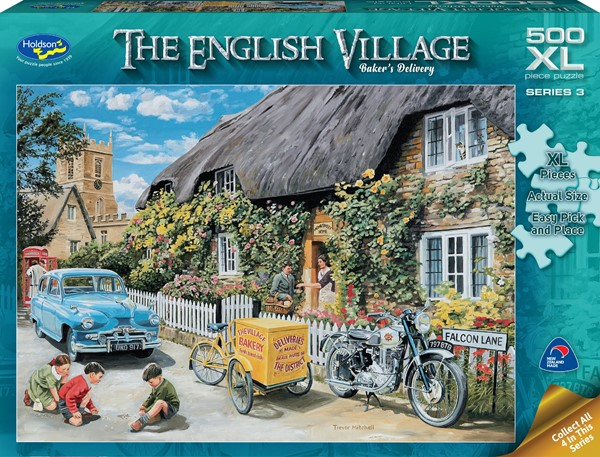 The English Village 500 XL Piece Jigsaw Puzzle Baker's Delivery -
