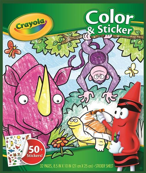 Crayola Color & Sticker Book Animals -