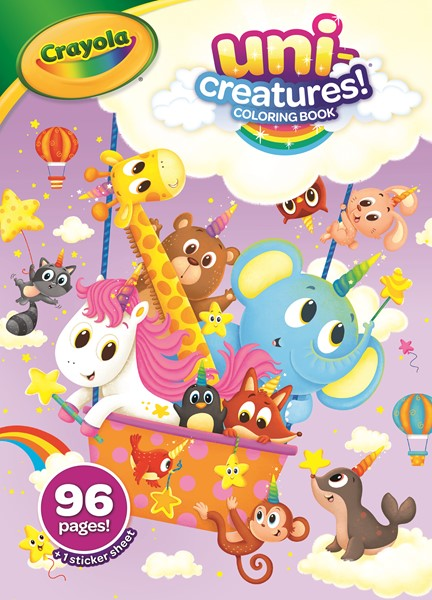 Crayola Uni-Creatures Coloring Book With Stickers 96pages -