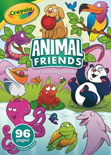 Crayola Animal Friends Coloring Book With Stickers 96page -