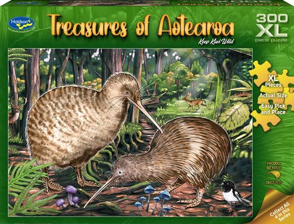 Treasures of Aotearoa 300XL Piece Jigsaw Puzzle - Keep Kiwi Wild -