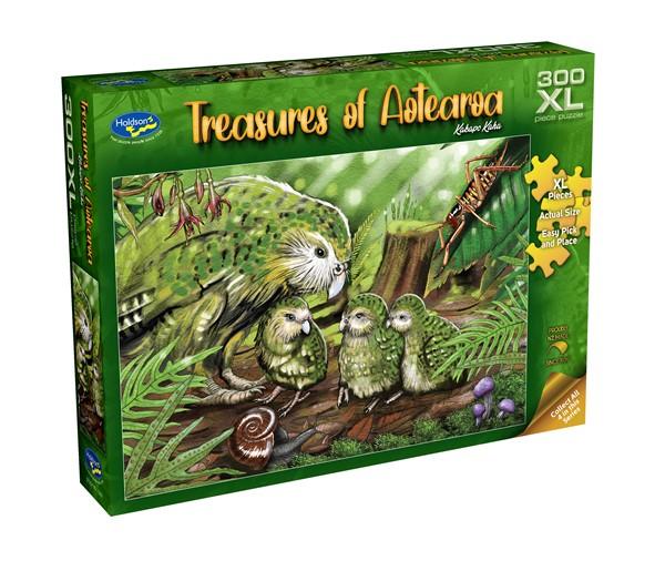 Treasures of Aotearoa 300XL Piece Jigsaw Puzzle - Kakapo Kaha -