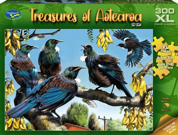 Treasures of Aotearoa 300XL Piece Jigsaw Puzzle - Tui Talk -