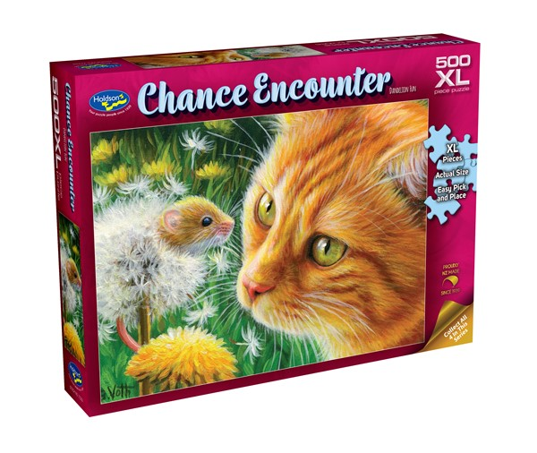 Chance Encounter 500XL Piece Jigsaw Puzzle - Dandelion Fun -