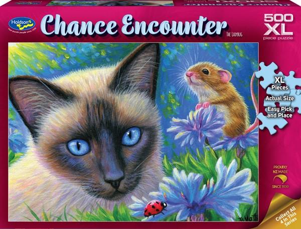 Chance Encounter 500XL Piece Jigsaw Puzzle - The Ladybug -