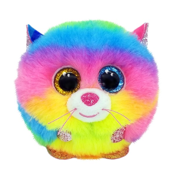 Ty Puffies Gizmo Rainbow Cat -