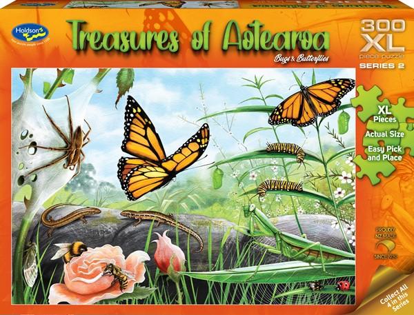 Treasures of Aotearoa 300XL Piece Jigsaw Puzzle - Bugs & Butterflies -