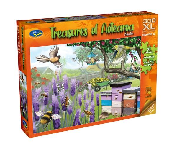Treasures of Aotearoa 300XL Piece Jigsaw Puzzle - Busy Bees -