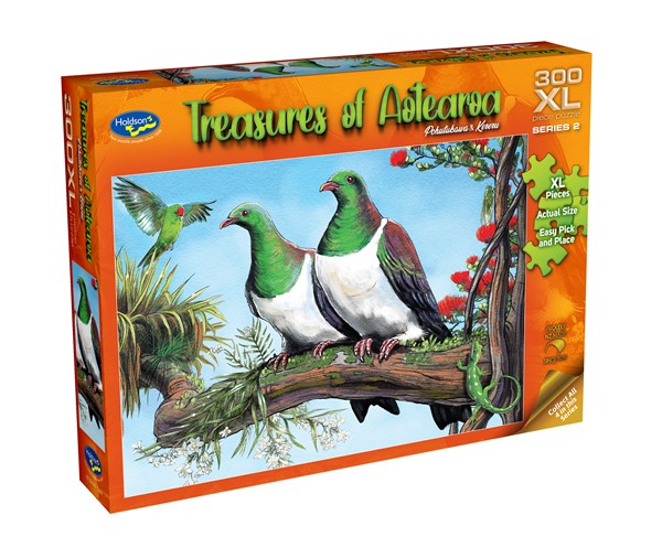 Treasures of Aotearoa 300XL Piece Jigsaw Puzzle - Pohutukawa & Kereru -
