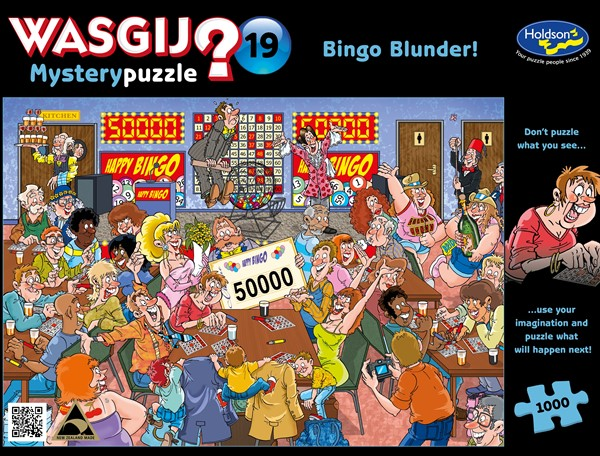 WASGIJ Mystery #19 1000 Piece Jigsaw Puzzle Bingo Blunder! -