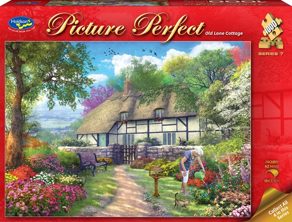 Picture Perfect 1000 Piece Jigsaw Puzzle - Old Lane Cottage -
