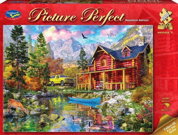 Picture Perfect 1000 Piece Jigsaw Puzzle - Mountain Retreat -