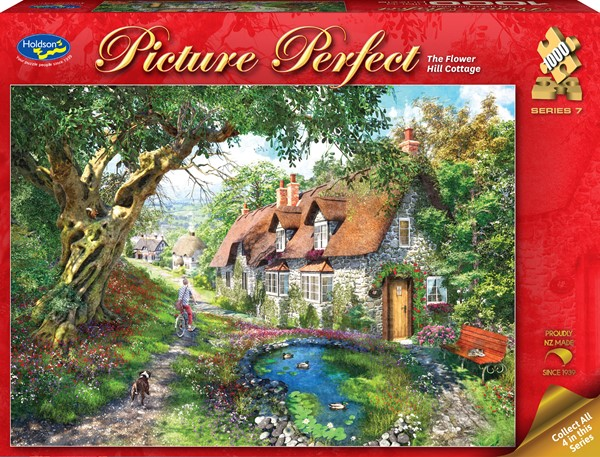 Picture Perfect 1000 Piece Jigsaw Puzzle - The Flower Hill Cottage -