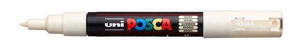 Uni Posca Marker 0.7mm Ultra-Fine Round Tip Ivory -
