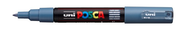 Uni Posca Marker 0.7mm Ultra-Fine Round Tip Slate Grey -