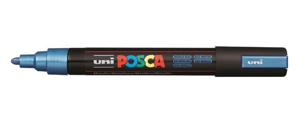 Uni Posca Marker 1.8-2.5mm Med Bullet Metallic Blue -