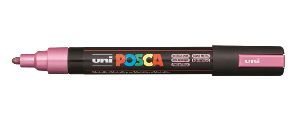 Uni Posca Marker 1.8-2.5mm Med Bullet Metallic Pink -