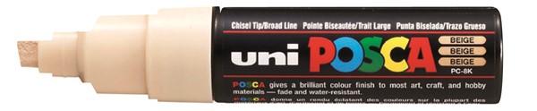 Uni Posca Marker 8.0mm Bold Chisel Beige -