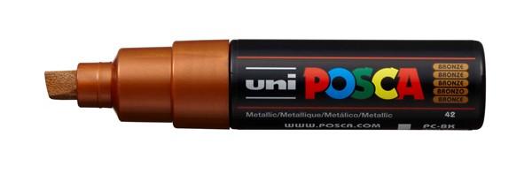 Uni Posca Marker 8.0mm Bold Chisel Bronze -
