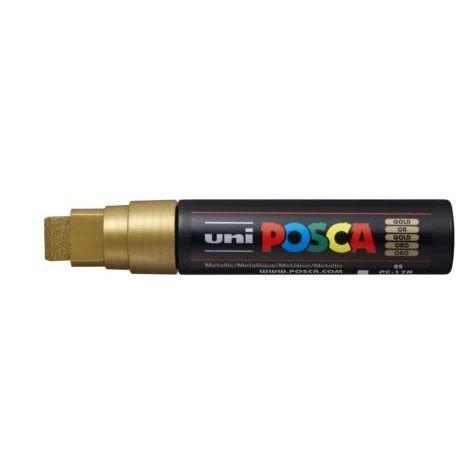 Uni Posca Marker 15.0mm Extra-Broad Chisel Gold -