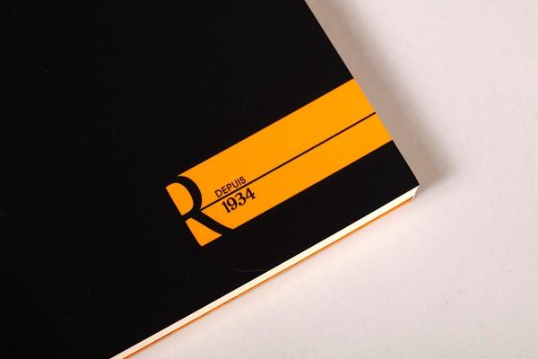 Rhodia le R Pad No. 16 A5 Blank Black -