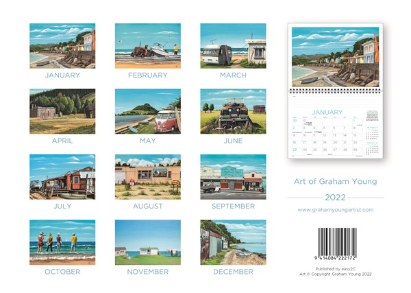 2022 Calendar Easy 2C Art of Graham Young -