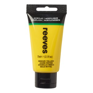 Reeves Paint Acrylic 75ml Medium Yellow