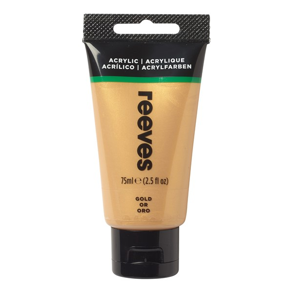 Reeves Paint Acrylic 75ml Gold -