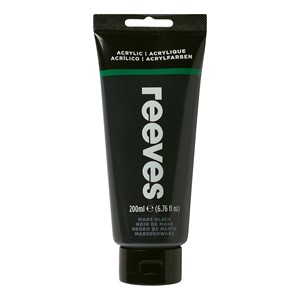 Reeves Paint Acrylic 200ml Mars Black