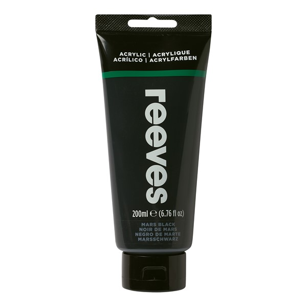 Reeves Paint Acrylic 200ml Mars Black - pr_1702718